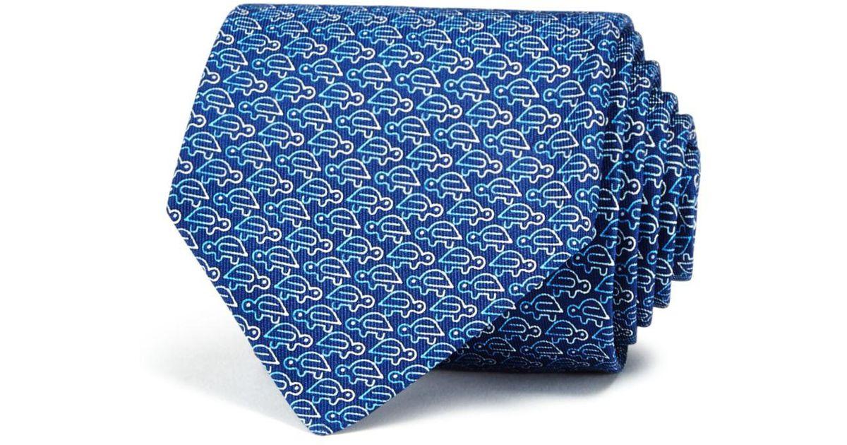 4d5262d0a5cd Lyst - Ferragamo Paper Clip Turtle Classic Tie in Blue for Men