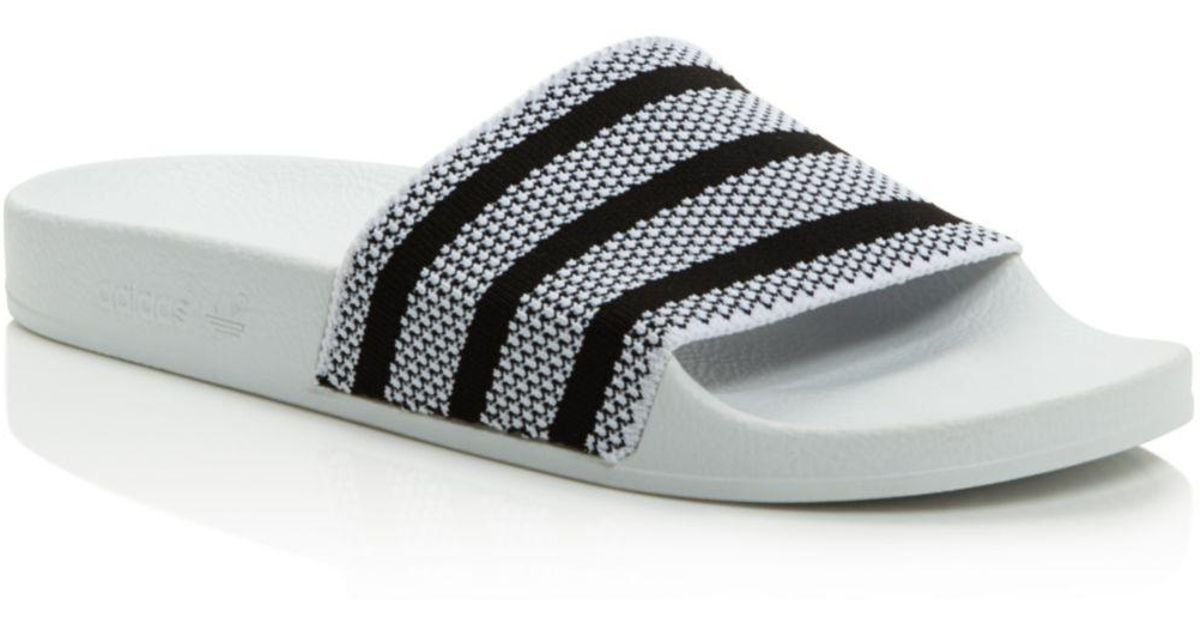 size 40 28616 0fe52 Lyst - adidas Womens Adilette Pool Slide Sandals in White