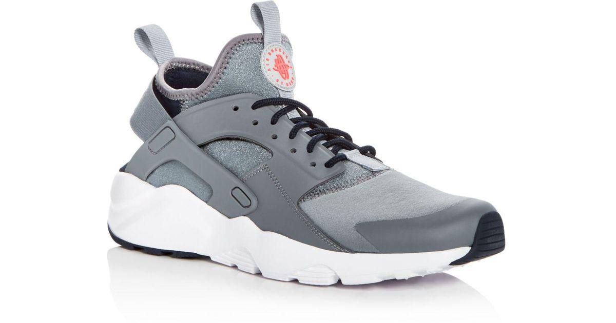 97b4e7d201423e Lyst - Nike Men s Air Huarache Run Ultra Lace Up Sneakers in Gray for Men