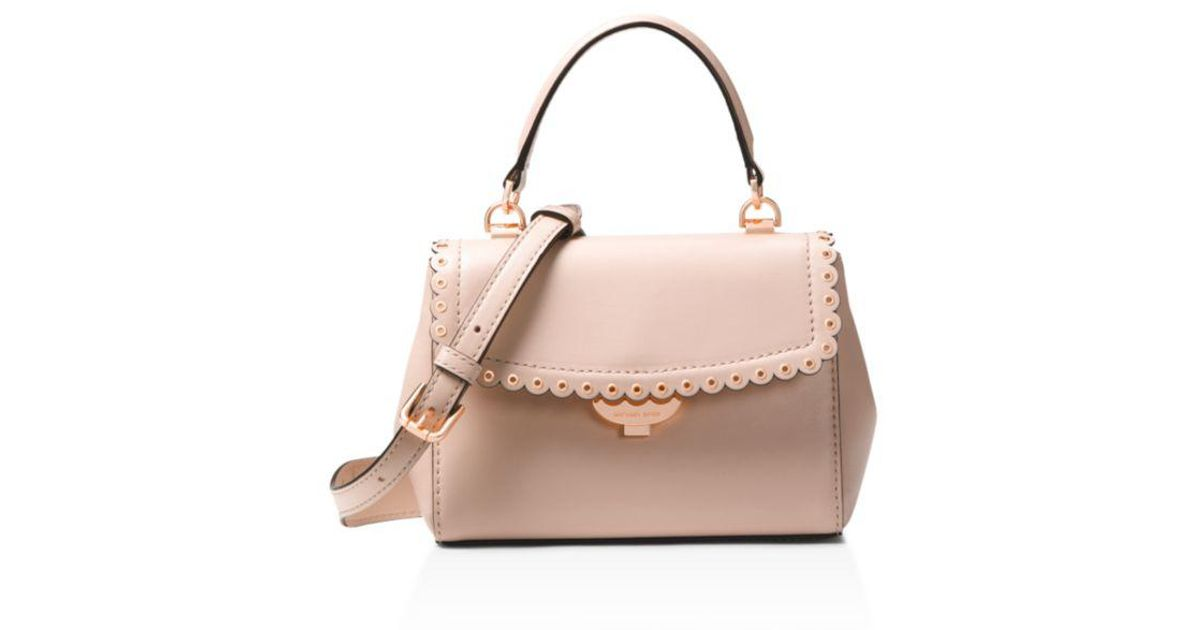 2bf75fc5549e6 MICHAEL Michael Kors Michael Kors Extra Small Leather Crossbody in Pink -  Lyst