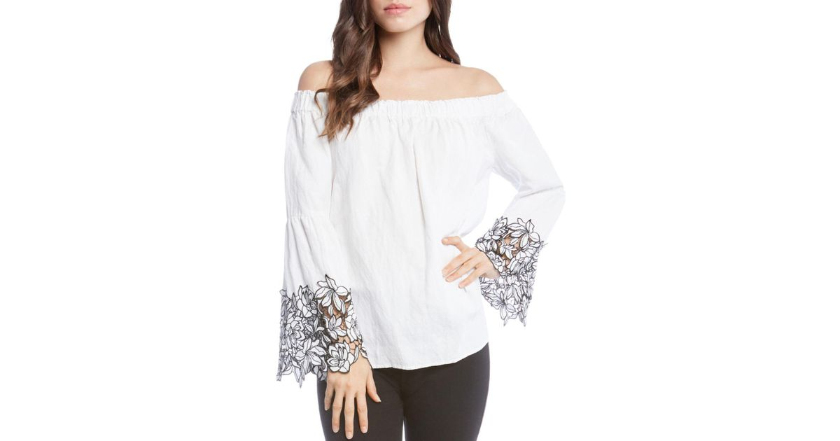de733f74d Karen Kane Off The Shoulder Top (off-white) Blouse in White - Save 56% -  Lyst