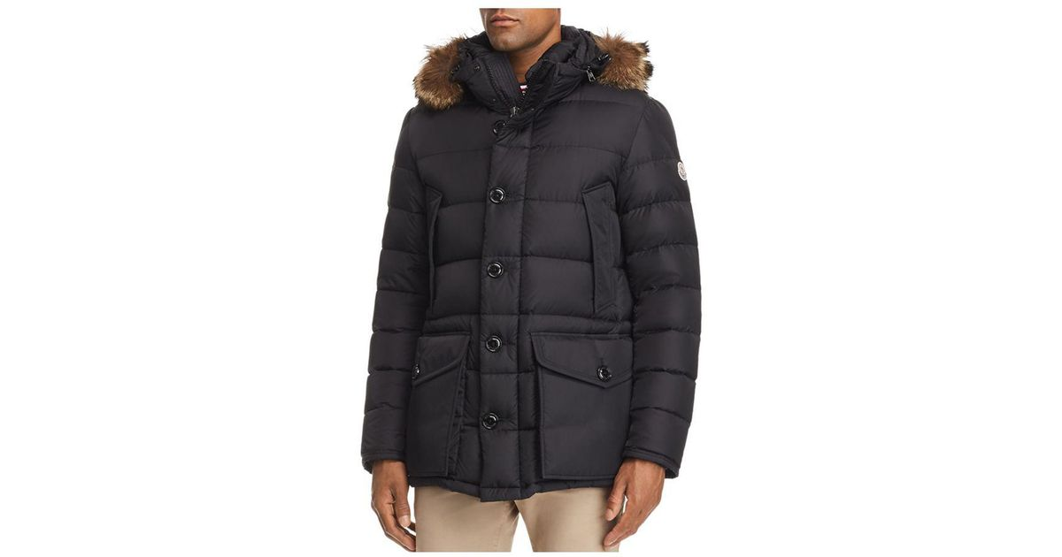 a8cd3ae515f3 Lyst - Moncler Cluny Hooded Down Jacket in Black for Men