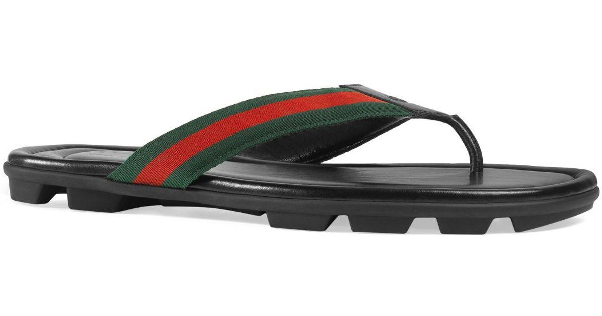 028b1866f624 Lyst - Gucci Men s Titan Thong Sandals in Black for Men