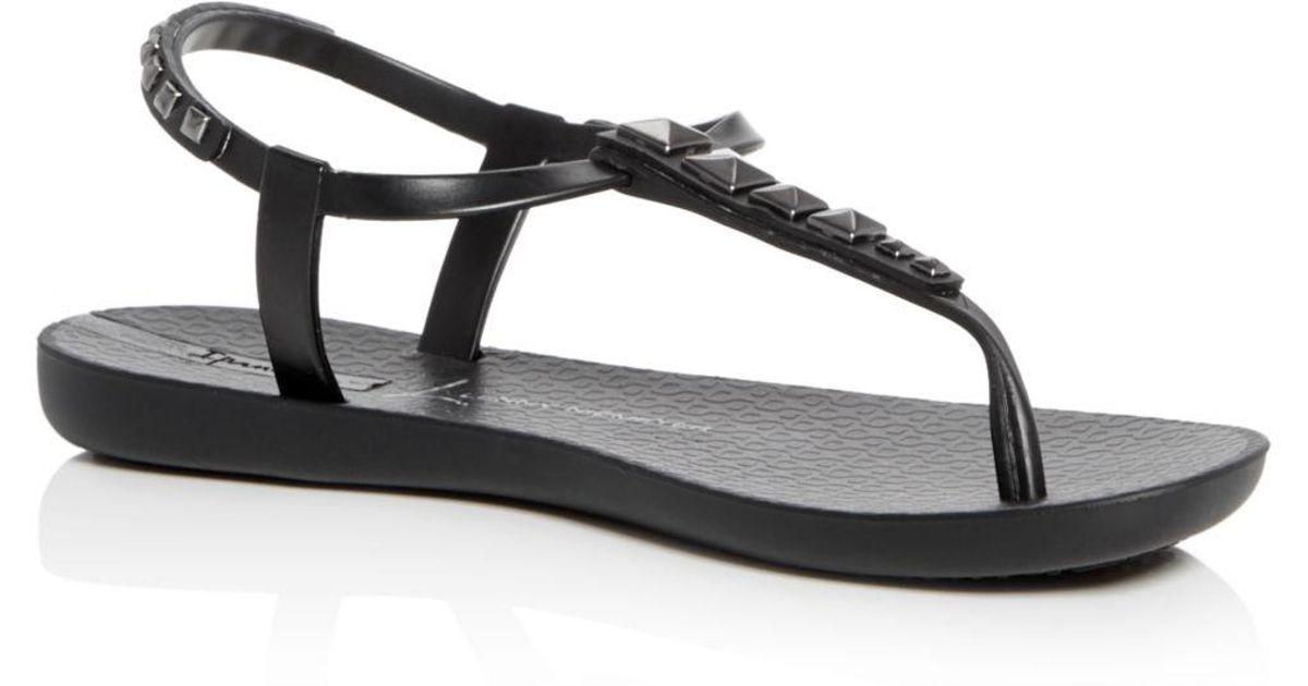 55bbfaf71664 Lyst - Ipanema Premium Lenny Rocker Thong Sandals in Black