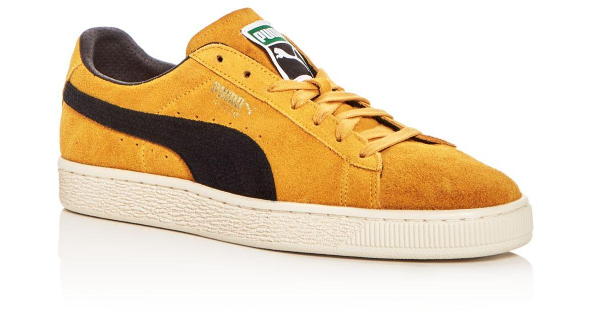 Puma Men s Classic Archive Suede Lace Up Sneakers in Yellow for Men - Lyst 6105ae189