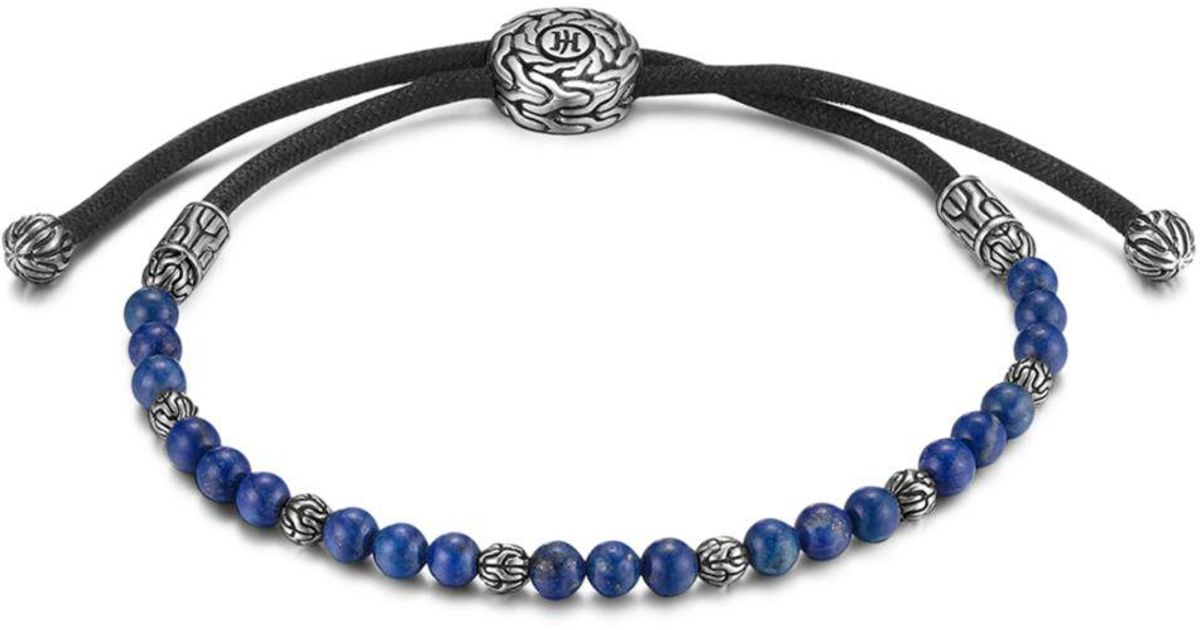 John Hardy Men S Sterling Silver Clic Chain Beaded Bracelet With Lapis Lazuli In Black For Save 1 362397820173494 Lyst