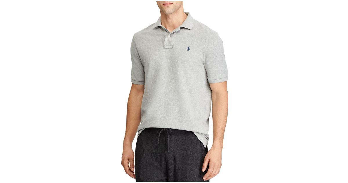 b37b60c6 Lyst - Polo Ralph Lauren Weathered Mesh Classic Fit Polo Shirt in Gray for  Men