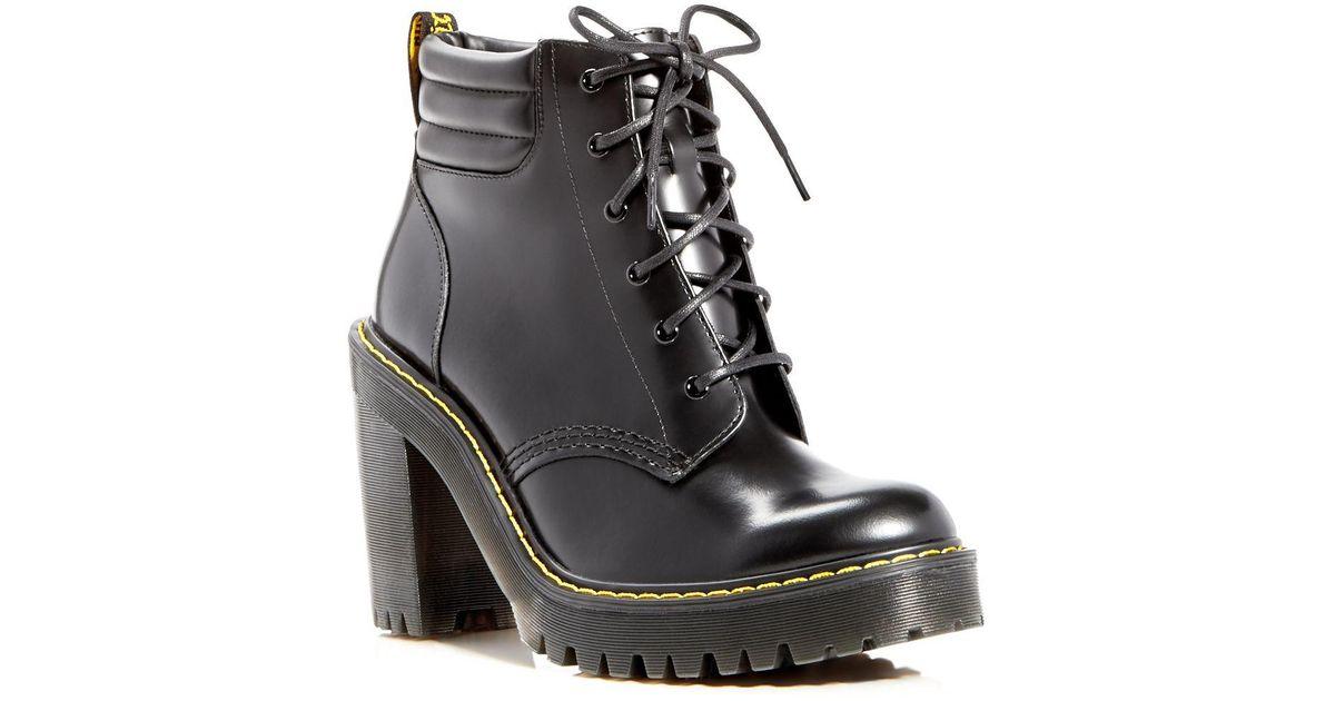 b625928d663bc Lyst - Dr. Martens Persephone High Heel Platform Booties in Black