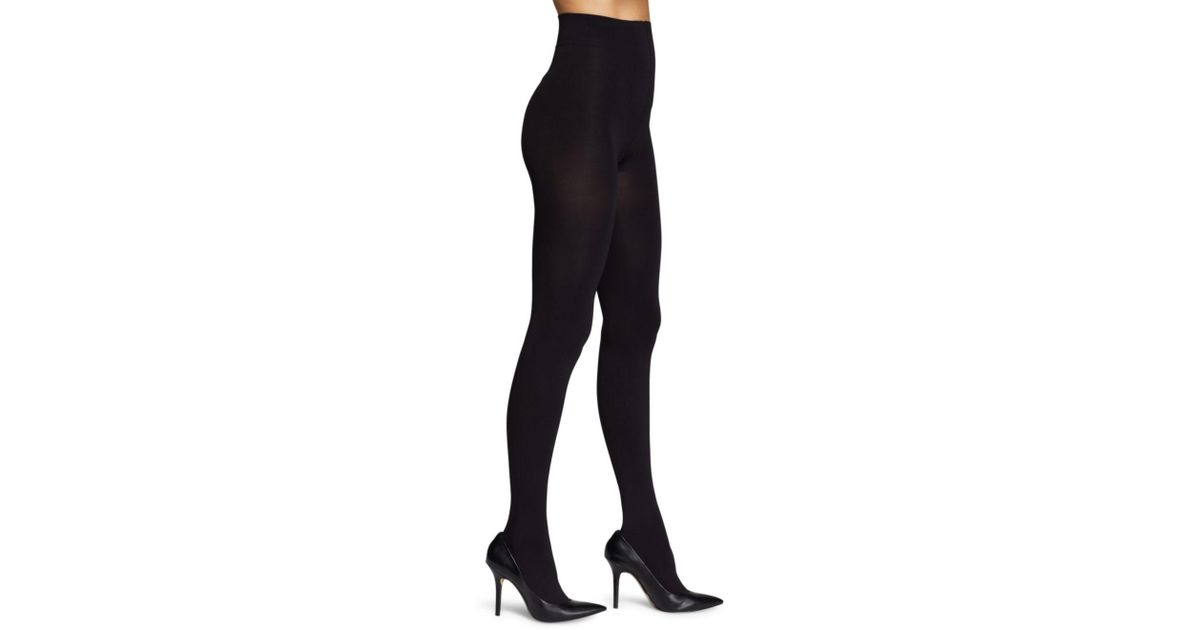 22116d8a058c8 Lyst - Hue Absolute Opaque Tights in Black