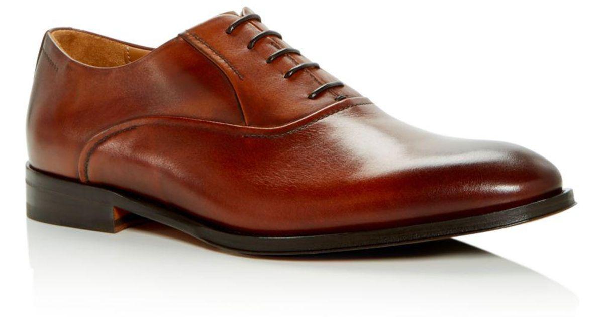 8a6b78ef5fcdb5 Bruno Magli Men's Dino Leather Plain Toe Oxfords in Brown for Men - Lyst