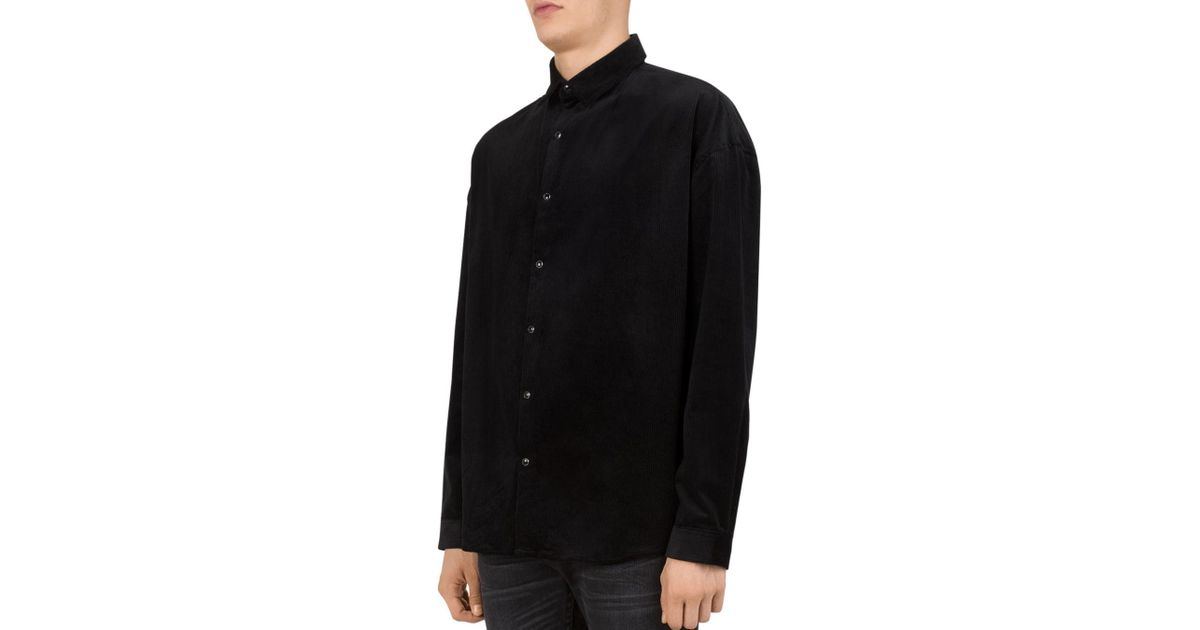 7625ea6e Lyst - The Kooples Lizzy Ribbed Regular Fit Button-down Shirt in Black for  Men - Save 20%
