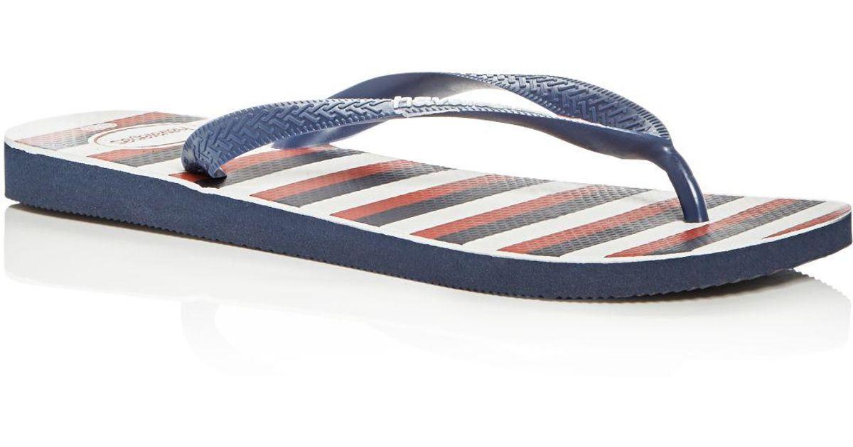 Flops Men's Stripe Havaianas Usa Flip For Blue Men Lyst POn0kX8w