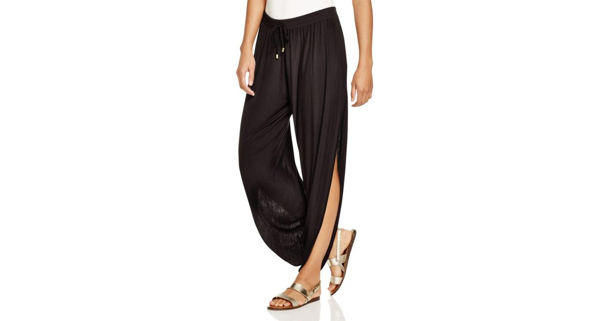 4f4cf65389e Lyst - Laundry by Shelli Segal Solid Draped Swim Cover-up Pants in Black