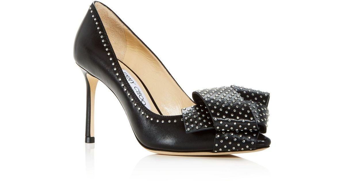 Jimmy choo Women's Tegan 85 Studded Leather High-Heel Pointed Toe Pumps zfjcldfTSW