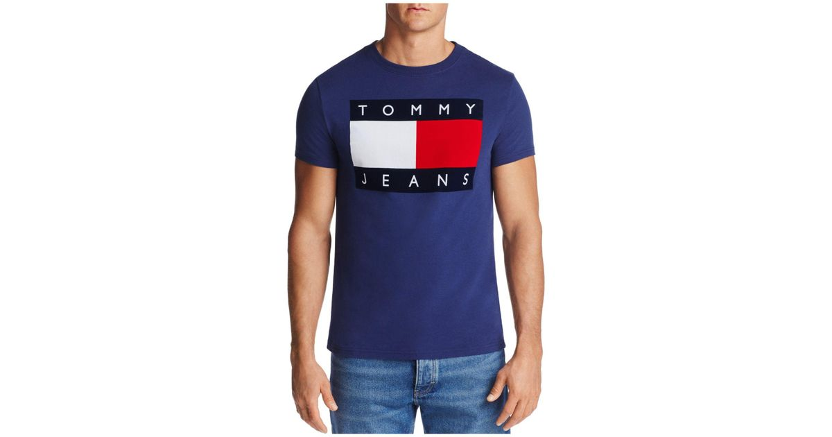 3257be5b154 Lyst - Tommy Hilfiger Graphic Logo Tee in Blue for Men