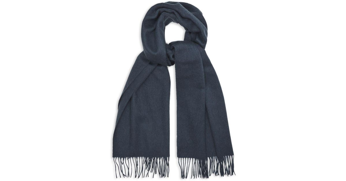 9ccf812fb Lyst - Reiss Saskia Scarf in Blue