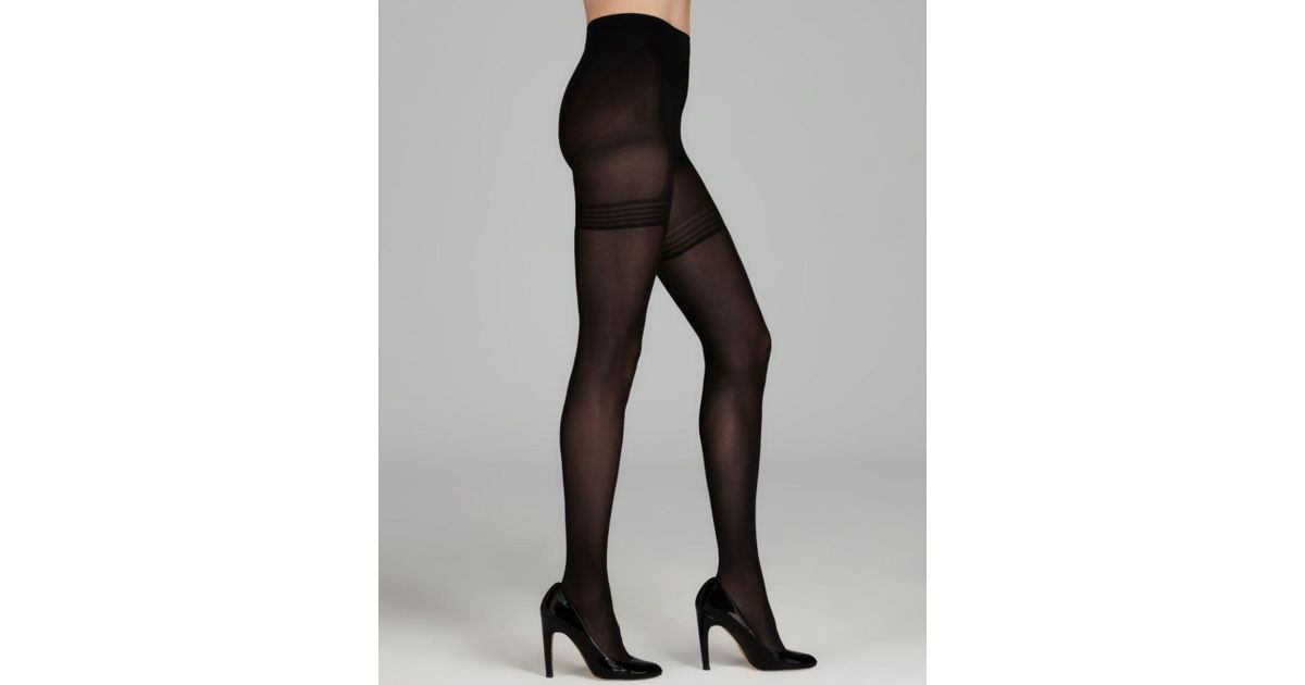 665f2818ce Lyst - Wolford Power Shape 50 Control Top Tights in Black