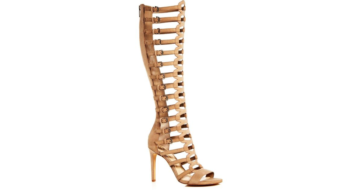 Lyst Vince Camuto Chesta Caged Gladiator Sandals In Natural