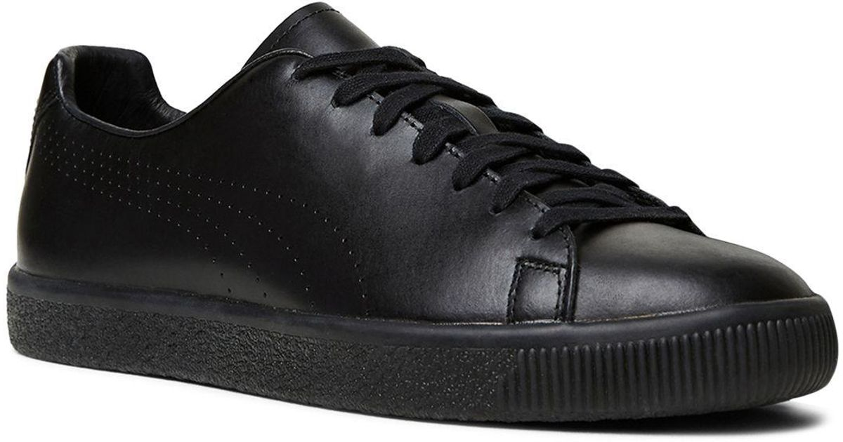 a0b4aff2168fd5 Lyst - The Kooples X Puma Clyde Lace Up Sneakers in Black