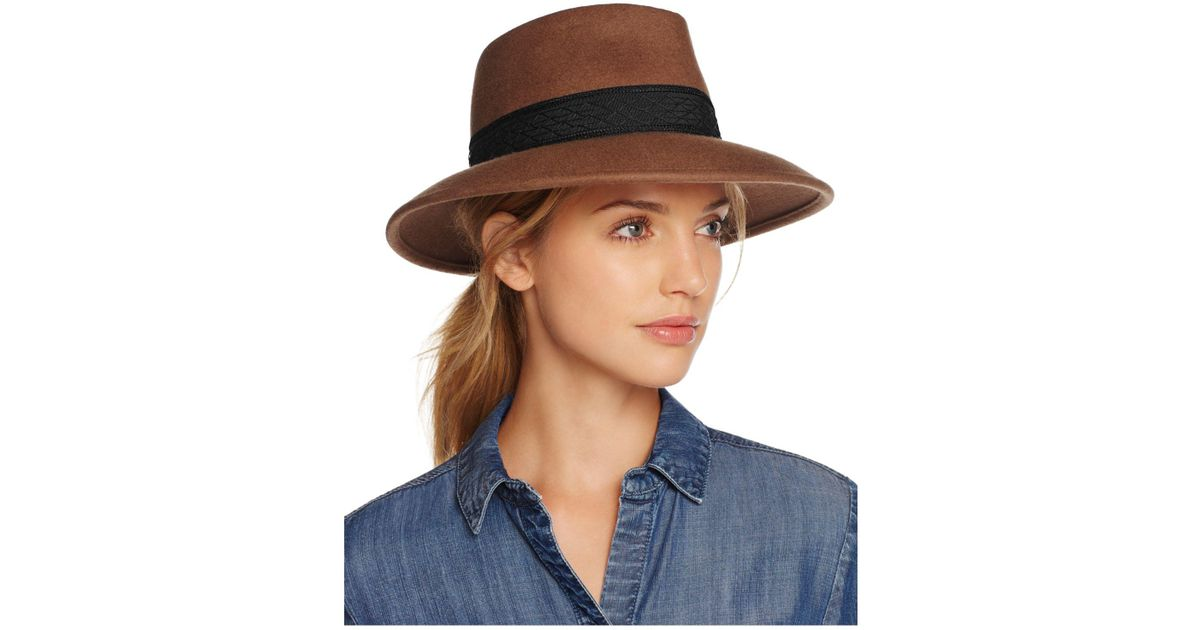 Lyst - Eric Javits Pop Kim Wool Fedora in Blue 9fe4c3e8c23