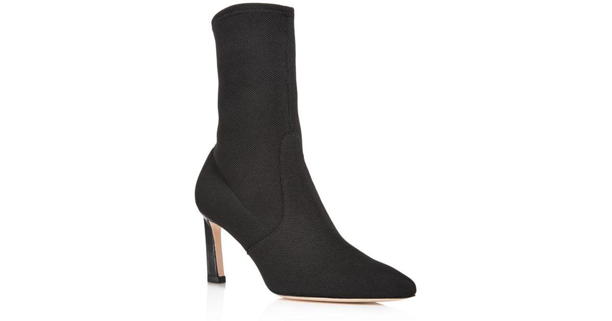 a523d9d31e68 Lyst - Stuart Weitzman Women s Rapture Mid Calf Stretch Sock Booties in  Black - Save 45%
