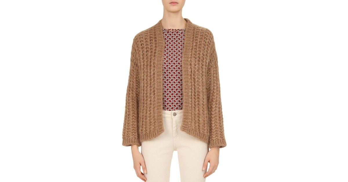 e82939f6c Lyst - Gerard Darel Carissa Open-front Cardigan in Natural