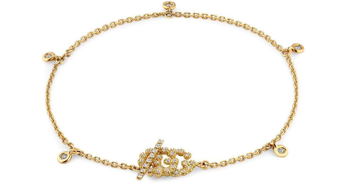 Gucci GG Running bracelet with diamonds ALbyK