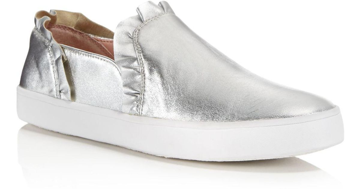 Kate Spade New York Women's Lilly Ruffle-Trim Leather Slip-On Sneakers Buy Cheap New Styles Discount Low Price HW1f4Yc