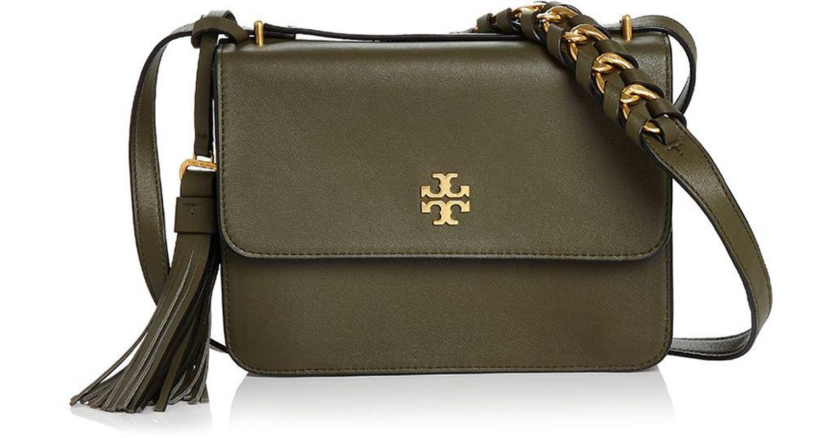bcdaaacf0b1 Lyst - Tory Burch Brooke Leather Crossbody in Green