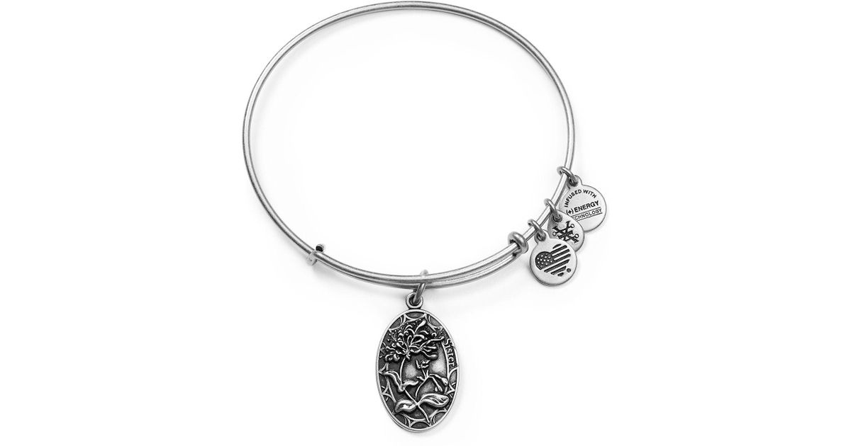 Lyst Alex And Ani Because I Love You Sister Ii Wrap Bracelet In Metallic