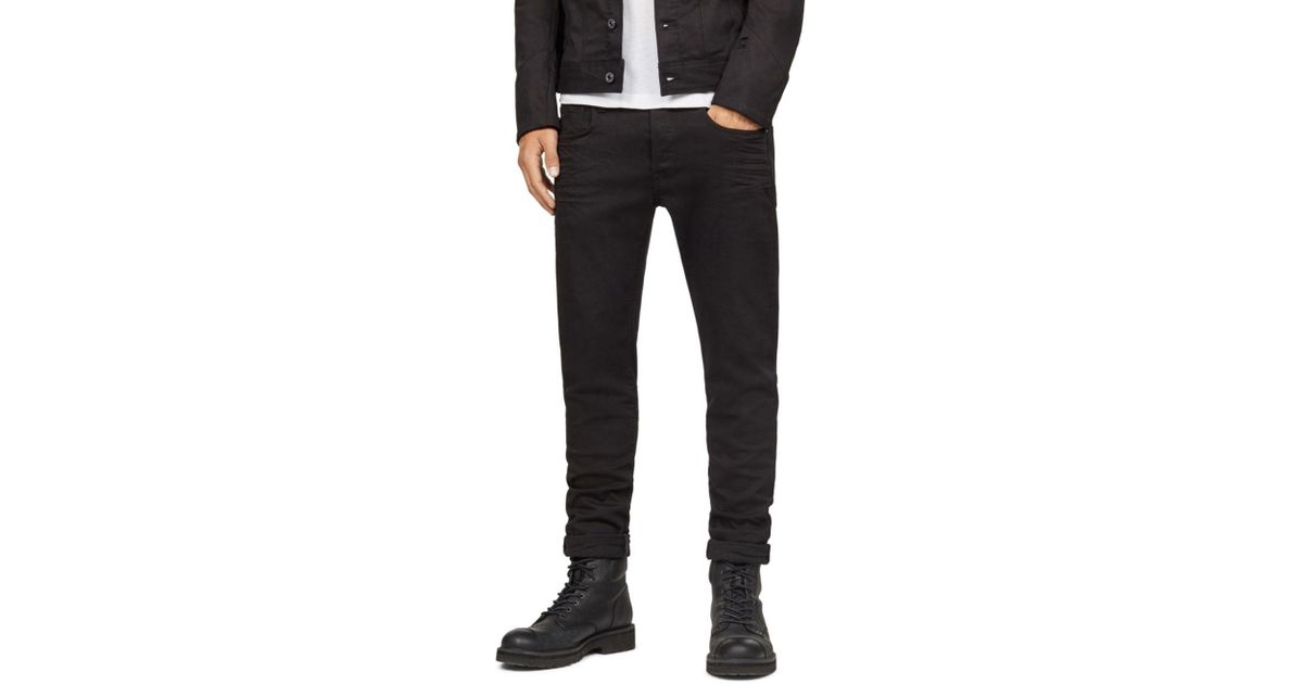 211e9a4e70d7 Lyst - G-Star RAW 3301 Slim Fit Jeans In Rinsed in Black for Men