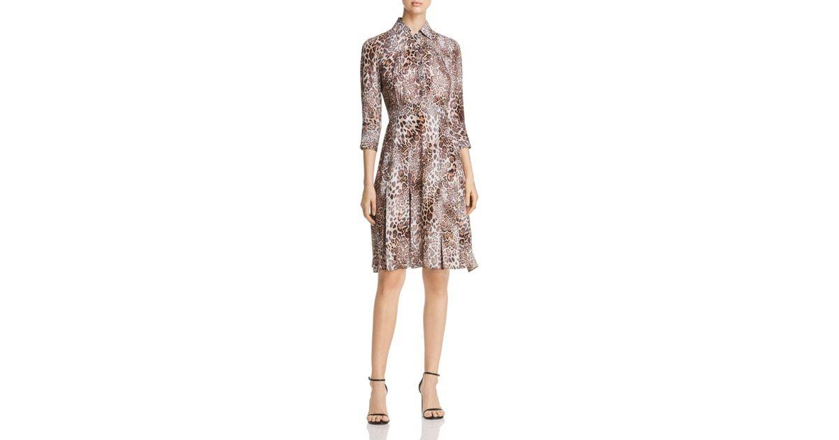 08a1de18c399 Elie Tahari Women's Brinx Leopard Shirtdress - Sawgrass Multi - Lyst