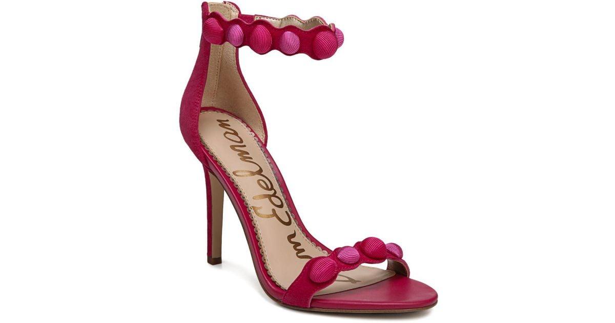 ce6552eee72 Lyst - Sam Edelman Addison Leather Stilettos in Pink