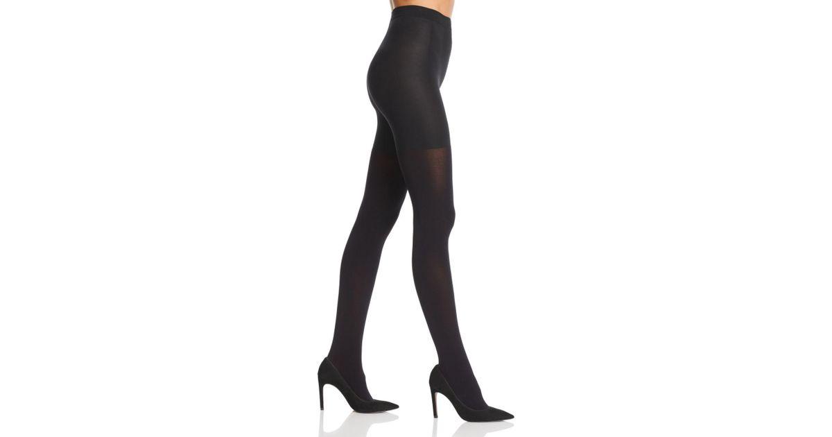 5999124656b68 Calvin Klein Hosiery Ultra Fit 80 Denier Opaque Shaper Tights in Black -  Lyst