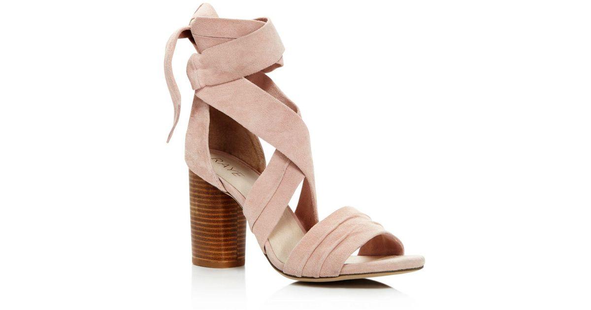 047209d8aaf Lyst - RAYE Mia Ankle Wrap High-heel Sandals