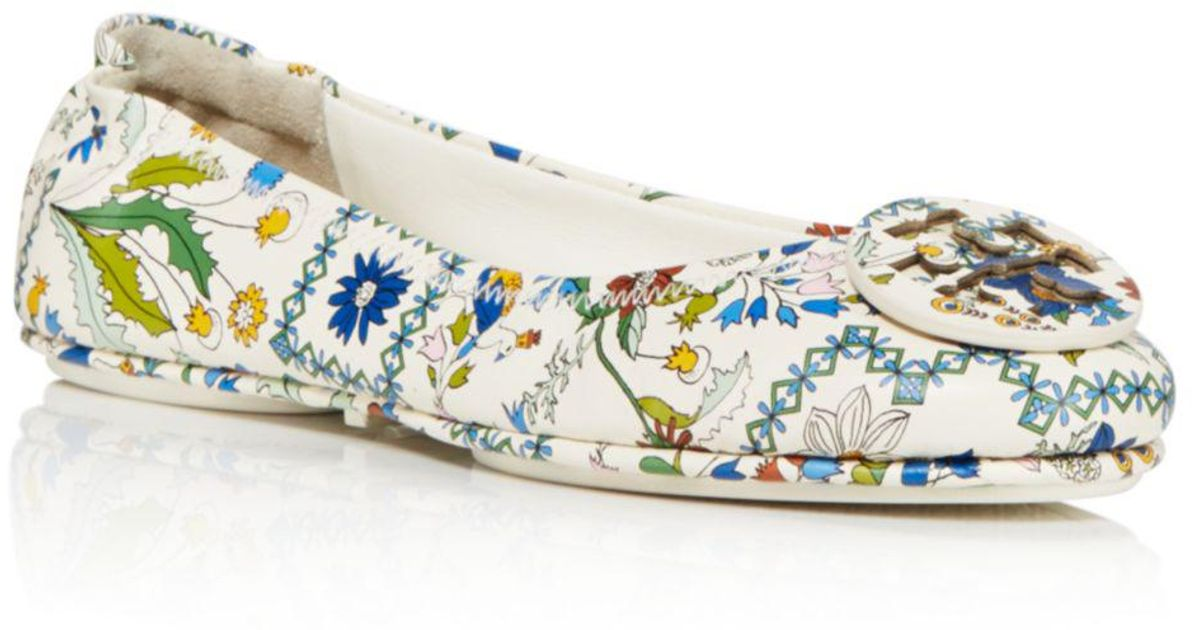 b5744b1beeb1a1 ... discount code for tory burch minnie ivory meadow folly travel ballet  flats in white lyst 79eea