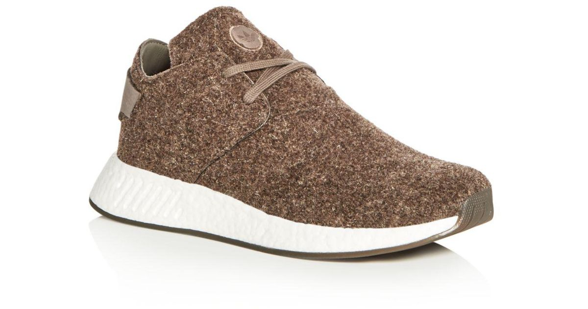 a9b28eef5 Lyst - Wings + Horns Adidas Men s Nmd C2 Chukka Felt Lace Up Sneakers in  Brown for Men