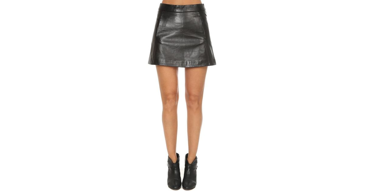 0ae18556 Ganni Passion Leather Skirt in Black - Lyst