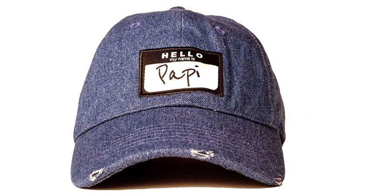 80e3999eb43 Head Crack NYC Papi Dad Hat in Blue for Men - Lyst
