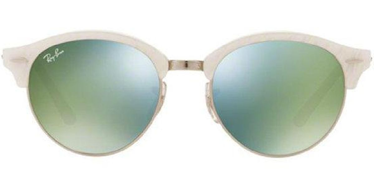 35c52f137a6 Lyst - Ray-Ban Clubround White green in White