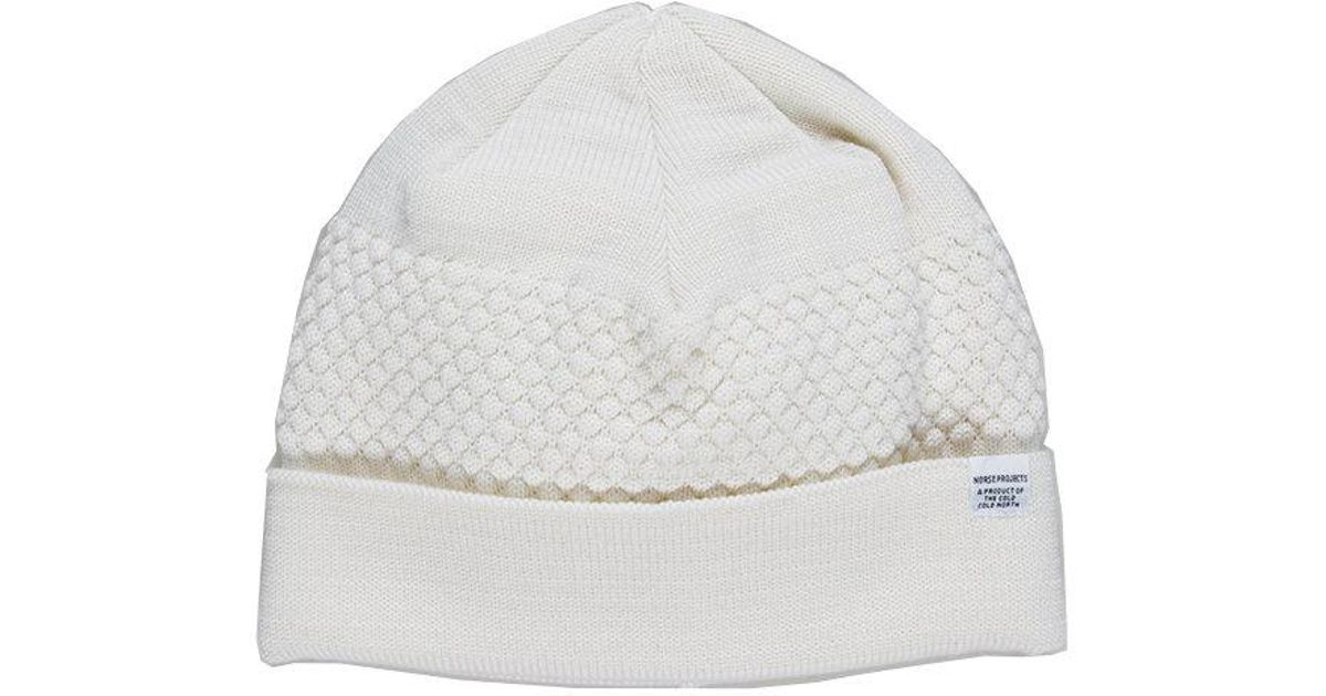 ad46d1f26 Norse Projects - White Bubble Beanie for Men - Lyst