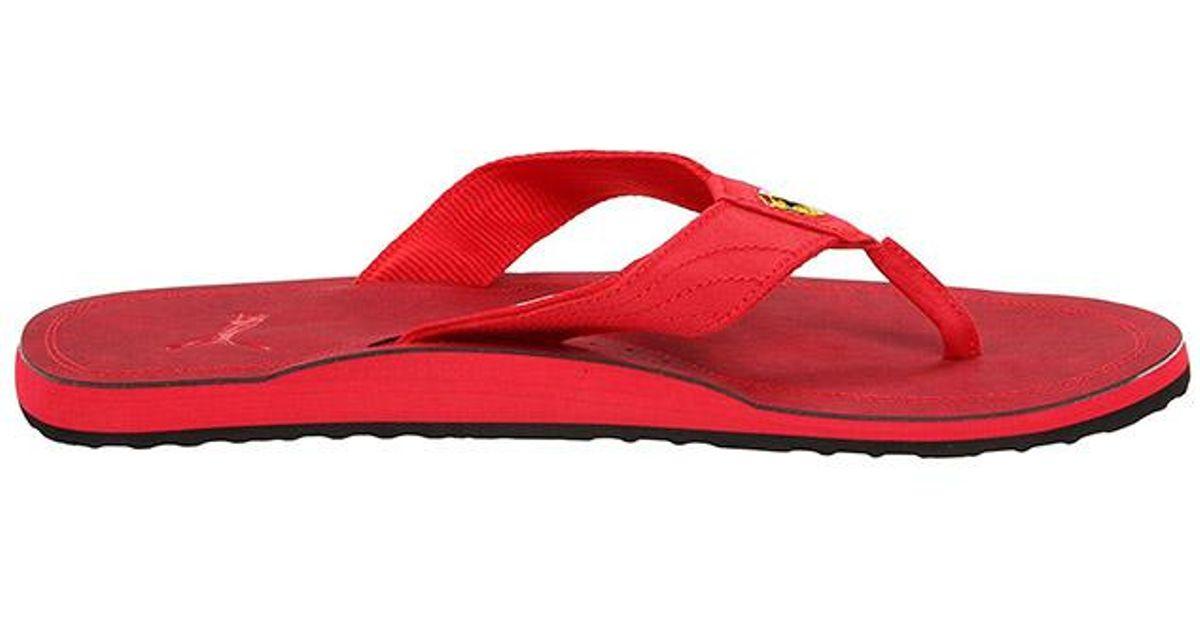 51a248f4b67 Lyst - PUMA Men s Surfrider Sf Ferrari Sandal in Red for Men