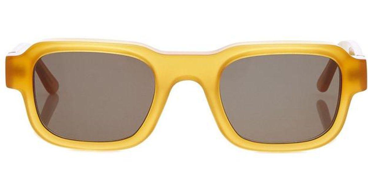+ Enfants Riches Déprimés The Isolar Square-frame Acetate Sunglasses - Yellow Thierry Lasry iDacR8Ejt
