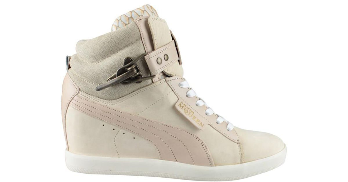 Alexander McQueen X Puma - Joustesse Nubuck Wedge High-Top Sneakers - Lyst