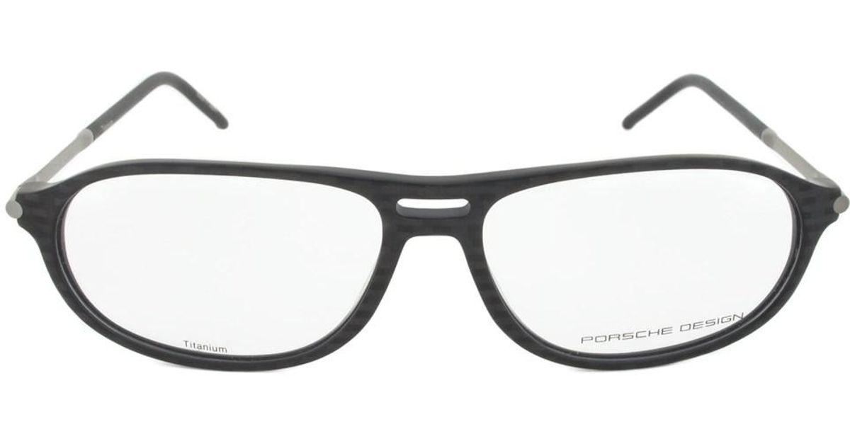 Lyst - Porsche Design P8138 A Oval | Dark Grey| Eyeglass Frames in Gray