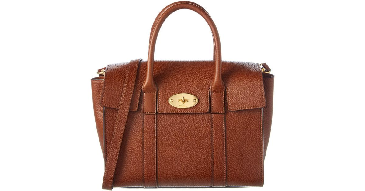 a0e67bf61150 Lyst - Mulberry Small New Bayswater Natural Grain Leather Satchel in Brown