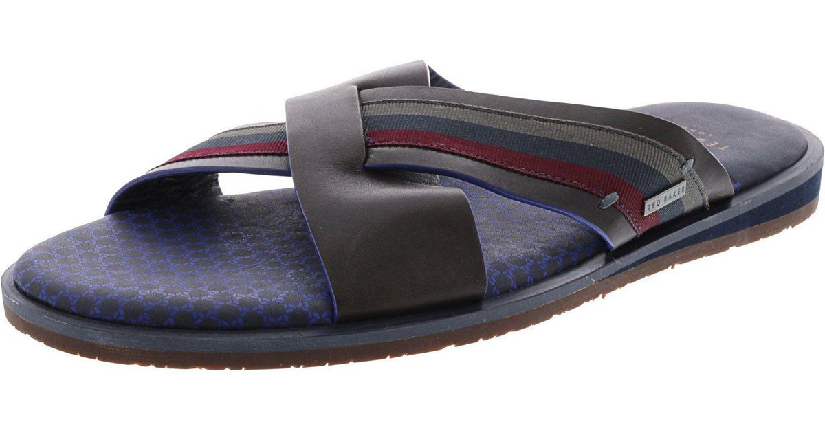 a68f7615a Lyst - Ted Baker Men s Farrull Sandal in Black for Men