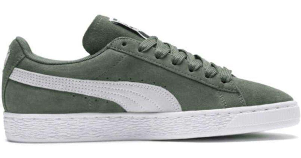 803e5708eaaf Lyst - Puma Men s Suede Classic Weatherproof Sneaker in Green for Men
