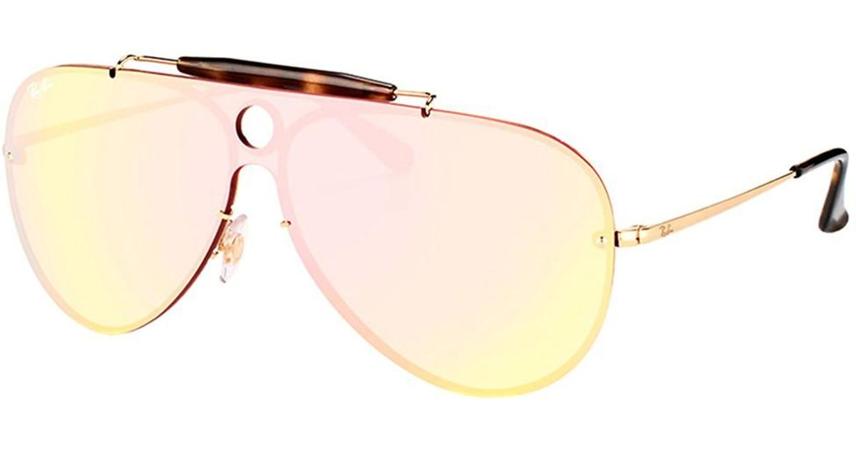 887cc3b75eee3 reduced sunglasses ray ban rb3138 shooter 85509 1f0c3  get lyst ray ban  blaze shooter rb 3581n 001 e4 gold aviator sunglasses in metallic 13eae