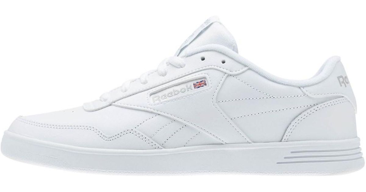 006470bc7a75 Lyst - Reebok Womens Club Memt Low Top Lace Up Fashion Sneakers in White
